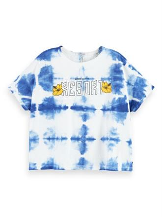 Boxy fit tee with tie-dye and artwo Scotch&Soda