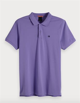 Classic clean pique polo with pop l Scotch&Soda