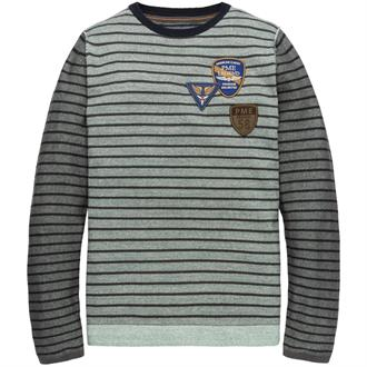 Crewneck Cotton mouline stripe Just Brands