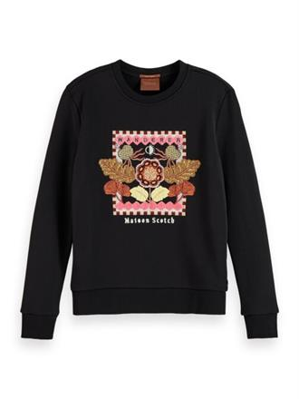 Crewneck sweat with embroidered art Scotch&Soda