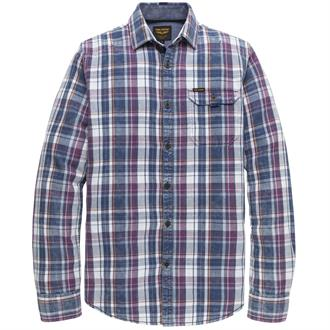 Long Sleeve Shirt Indigo Check Just Brands