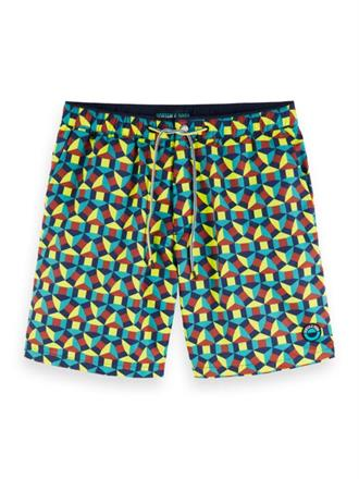 Mid-length swim short with all-over Scotch&Soda