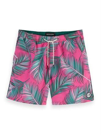 Mid-length swim short with colourfu Scotch&Soda