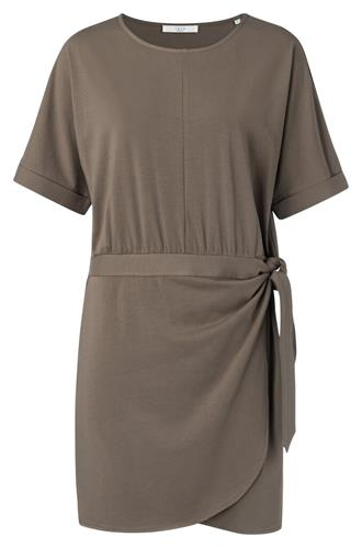 Modal cotton blend wrap dress Yaya