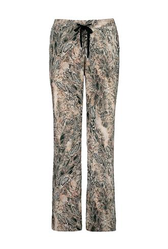 pants mid wide printed snake Expresso