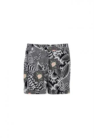 PANTS SHORT ALLOVER PRINT Expresso