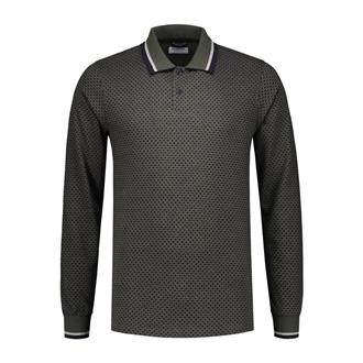 Polo l/s Honey Comb Pique DSTREZZED