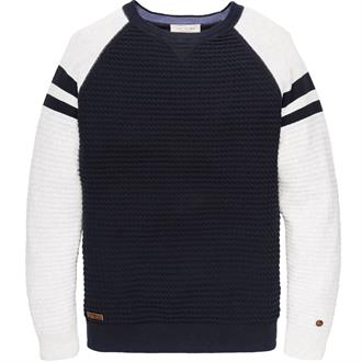 R-neck Cotton Structure Colourbloc Just Brands