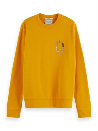 Relaxed fit crewneck sweat with che Scotch&Soda