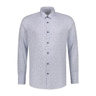 Shirt l/s regular collar Multi Dot Fine stretch po DSTREZZED