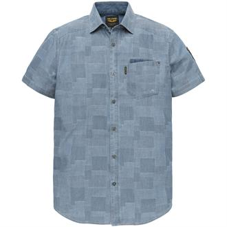 Short Sleeve Shirt Indigo Block Jac Just Brands