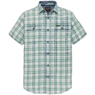 Short Sleeve Shirt Indigo Check Te Just Brands