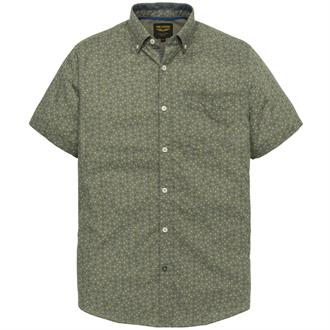 Short Sleeve Shirt Linen Print Mic Just Brands