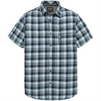Short Sleeve Shirt Melange Check M Just Brands