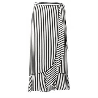 Striped wrap skirt with ruffle Yaya