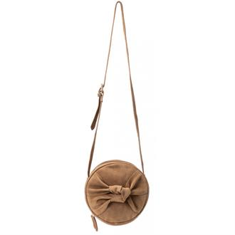 Suede round bag with knot Yaya