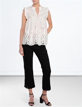 Top sleeve less cotton voile chiffy SUMMUM
