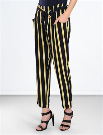 Trousers striped crepe viscose SUMMUM